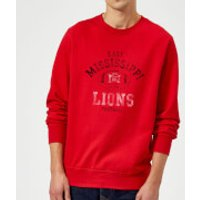 East Mississippi Community College Lions Football Distressed Sweatshirt - Red - XXL - Red - Football Gifts