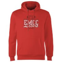 East Mississippi Community College Lions Distressed Hoodie - Red - L - Red