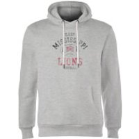 East Mississippi Community College Lions Distressed Football Hoodie - Grey - M - Grey - Football Gifts