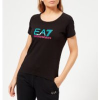 Emporio Armani EA7 Women's Train Logo Series Shiny Print T-Shirt - Black - XS - Black