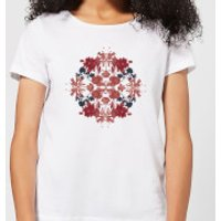 Natural History Museum Flowers And Leaves Women's T-Shirt - White - XXL - White - History Gifts