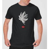 Natural History Museum Tropical Leaf Fashion Print Men's T-Shirt - Black - XXL - Black - History Gifts