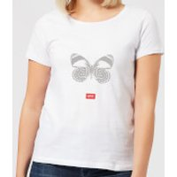 Natural History Museum Butterfly Fashion Print Women's T-Shirt - White - XXL - White - History Gifts