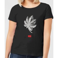 Natural History Museum Tropical Leaf Fashion Print Women's T-Shirt - Black - XXL - Black - History Gifts