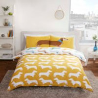 Sausage Dog Duvet Cover Set - Multi - Single - Multi
