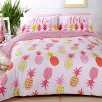 Pineapples Duvet Set - Multi - Double - Multi