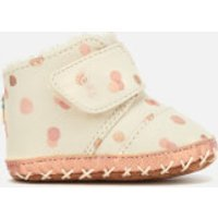 TOMS Babies Cuna Party Dots Boots  Pale Blush  UK 2 Baby  Pink