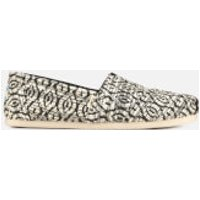 TOMS Women's Diamond Woven Alpargata Espadrilles - Black - UK 3 - Black