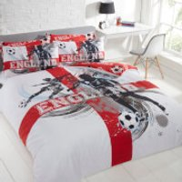 Dreamscene England World Cup Duvet Set - Double - Multi - World Cup Gifts