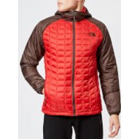 The North Face Men's Thermoball Sport Hooded Jacket - Rage Red/Bittersweet Brown - L - Red