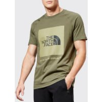 The North Face Men's Short Sleeve Raglan Red Box T-Shirt - New Taupe Green - S - Green