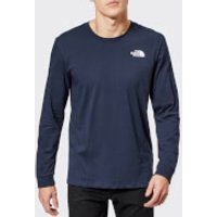 The North Face Men's Long Sleeve Simple Dome T-Shirt - Urban Navy - S - Blue
