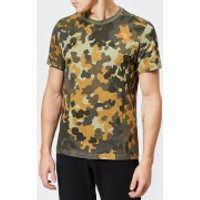The North Face Men's Short Sleeve Red Box T-Shirt - New Taupe Green Macrofleck Print - XL - Green