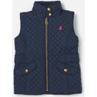 Joules Girls' Jilly Quilted Gilet - French Navy - 9-10 Years - Blue