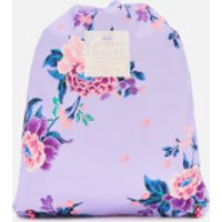 Joules Girls' Junior Rubber Drawstring Bag - Lilac Chinoise Floral