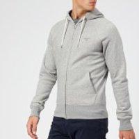 GANT Men's Original Full Zip Hoody - Grey Melange - XL - Grey