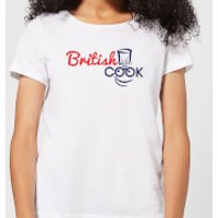 British Cook Logo Women's T-Shirt - White - 5XL - White - Cook Gifts
