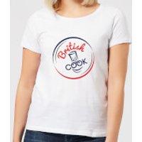 British Cook Circle Logo Women's T-Shirt - White - 5XL - White - Cook Gifts