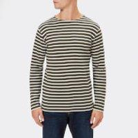 Armor Lux Men's Mariniere Heritage Long Sleeve T-Shirt - Aquilla/Milk - XL - Green