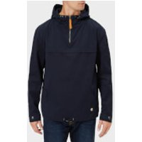 Armor Lux Men's Water Repellent Fisherman's Smock Jacket - Marine Deep - L - Blue