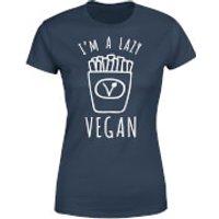 Lazy Vegan Women's T-Shirt - Navy - XXL - Navy - Lazy Gifts