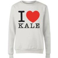 I Heart Kale Women's Sweatshirt - White - XXL - White - Heart Gifts