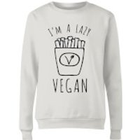 Lazy Vegan Women's Sweatshirt - White - XXL - White - Lazy Gifts