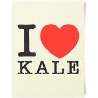 I Heart Kale Art Print - Heart Gifts