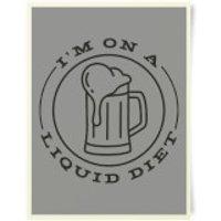 Liquid Diet Beer Art Print