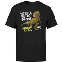 Dinosaur Unicorn Men's T-Shirt - Black - M - Black
