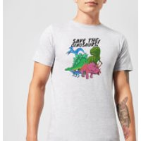 Save The Dinosaurs Men's T-Shirt - Grey - M - Grey - Dinosaurs Gifts