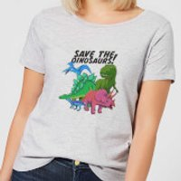 Save The Dinosaurs Women's T-Shirt - Grey - XL - Grey - Dinosaurs Gifts