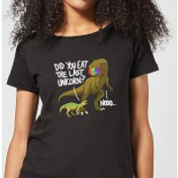 Dinosaur Unicorn Women's T-Shirt - Black - XXL - Black