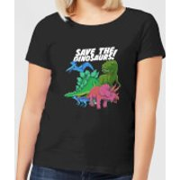 Save The Dinosaurs Women's T-Shirt - Black - M - Black - Dinosaurs Gifts