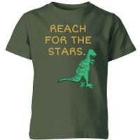 Reach For The Stars Kids' T-Shirt - Forest Green - 11-12 Years - Forest Green - Green Gifts