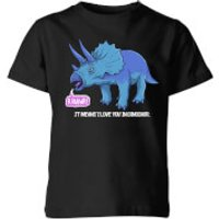 Rawr It Means I Love You In Dinosaur Kids' T-Shirt - Black - 11-12 Years - Black - Love Gifts