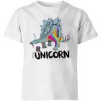 DinoUnicorn Kids' T-Shirt - White - 7-8 Years - White