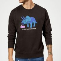 Rawr It Means I Love You In Dinosaur Sweatshirt - Black - M - Black - Love Gifts