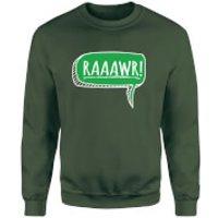 Raaawr Sweatshirt - Forest Green - XXL - Forest Green - Green Gifts