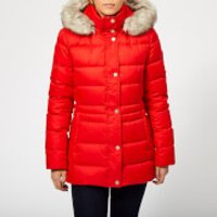 Tommy Hilfiger Womens New Tyra Down Jacket - Flame Scarlet - S - Red