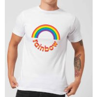 Rainbow Circle Logo Men's T-Shirt - White - L - White