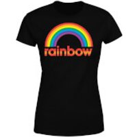 Rainbow Core Logo Women's T-Shirt - Black - XXL - Black