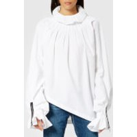 JW-Anderson-Womens-Pleated-Collar-Blouse-White-UK-12-White