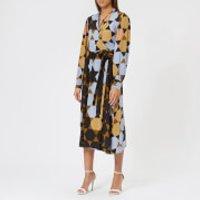 Stine Goya Women's Micaela Hexigons Silk Wrap Dress - Hexigons Amber - S - Blue