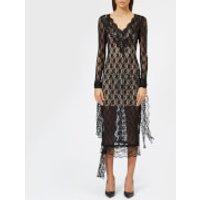 Christopher Kane Women's Small Flower Stretch Lace Dress - Black - IT 40/UK 8 - Black