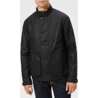 Barbour International Mens Armour Wax Jacket - Black - M - Black