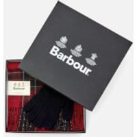 Barbour Mens Scarf And Glove Gift Set - Red Tartan
