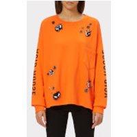 McQ-Alexander-McQueen-Womens-Tri-Neck-Short-Sleeve-TShirt-Acid-Orange-S-Orange