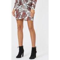 Isabel-Marant-Womens-Tilena-Printed-Techno-Skirt-WhiteRed-FR-40L-Multi