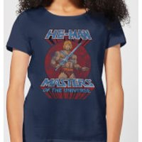 He-Man Distressed Women's T-Shirt - Navy - M - Navy - Navy Gifts